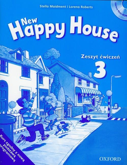 okładka New Happy House 3 Zeszyt ćwiczeń z płytą CD, Książka | Stella Maidment, Lorena Roberts