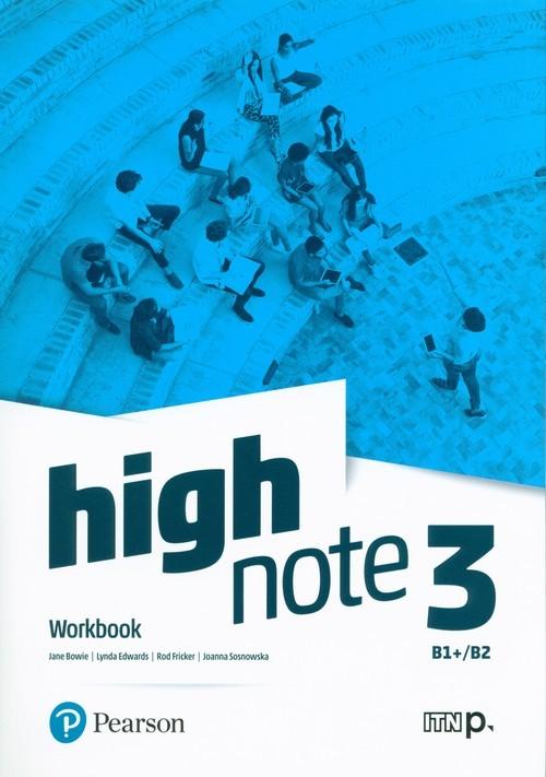 okładka High Note 3 Workbook + Online Szkoła ponadpodstawowa i ponadgimnazjalnaksiążka      Jane Bowie, Lynda Edwards, Rod Fricker, Sosno