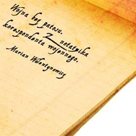 okładka Wojna bez patosu. Z notatnika korespondenta wojennego, Audiobook   Walentynowicz Marian