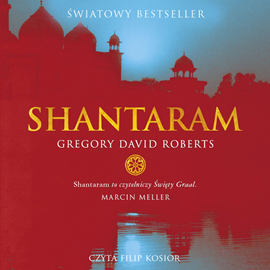 okładka Shantaram, Audiobook | David Roberts Gregory