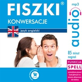 okładka FISZKI audio – j. angielski – Konwersacje, Audiobook   Leman Joanna