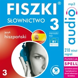 okładka FISZKI audio – j. hiszpański – Słownictwo 3, Audiobook | Perczyńska Kinga