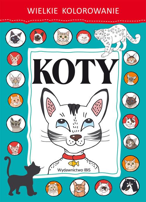 okładka Wielkie kolorowanie Koty, Książka |
