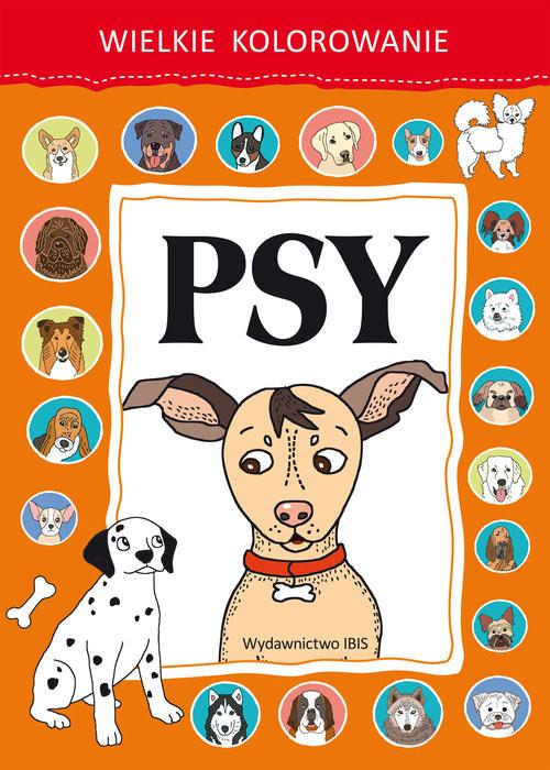okładka Wielkie kolorowanie. Psy, Książka |