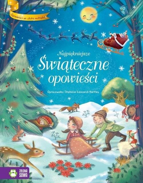okładka Opowieści ze złotą wstążką Najpiękniejsze Świąteczne opowieści, Książka | Leonardi Hartley Stefania