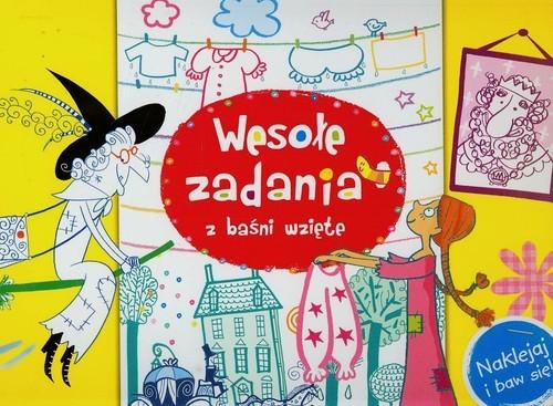 okładka Wesołe zadania z baśni wzięte Naklejaj i baw, Książka | Wiśniewska Anna