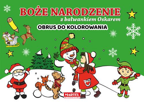 okładka Boże Narodzenie z bałwankiem Oskarem, Książka | Aleksandra Adamska-Rzepka, Krzemień-Przedwols