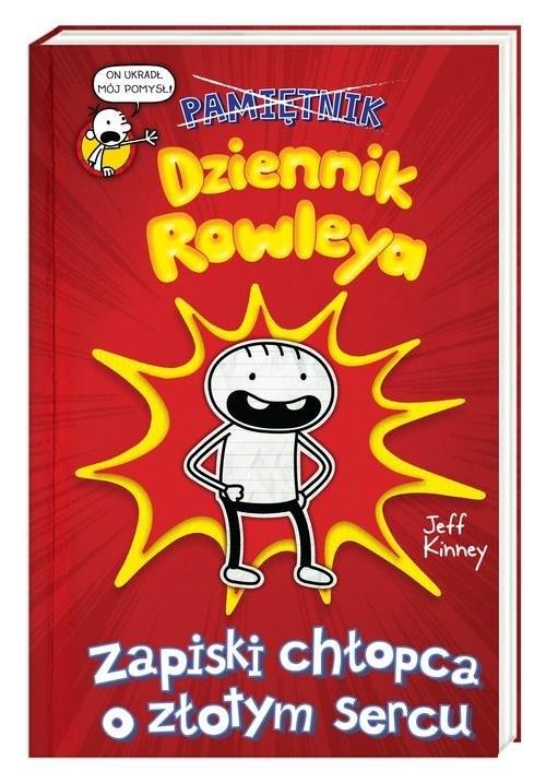 okładka Dziennik Rowleya Zapiski chłopca o złotym sercu, Książka | Jeff Kinney
