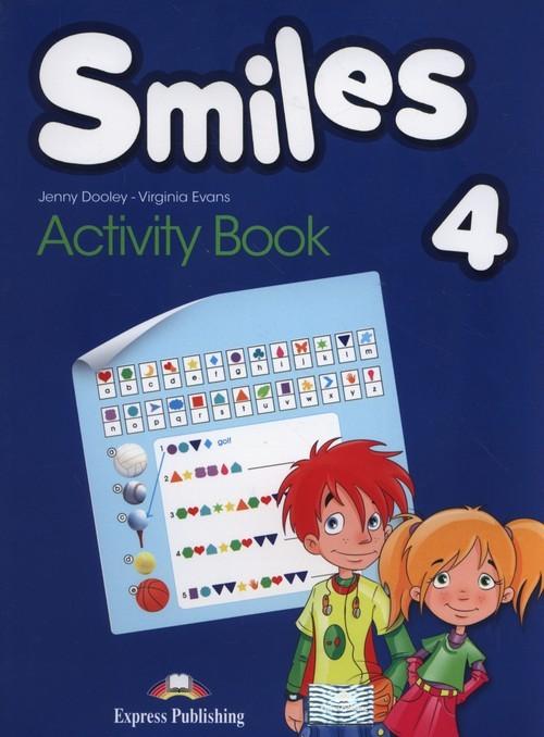 okładka Smiles 4 Activity Book, Książka   Jenny Dooley, Virginia Evans