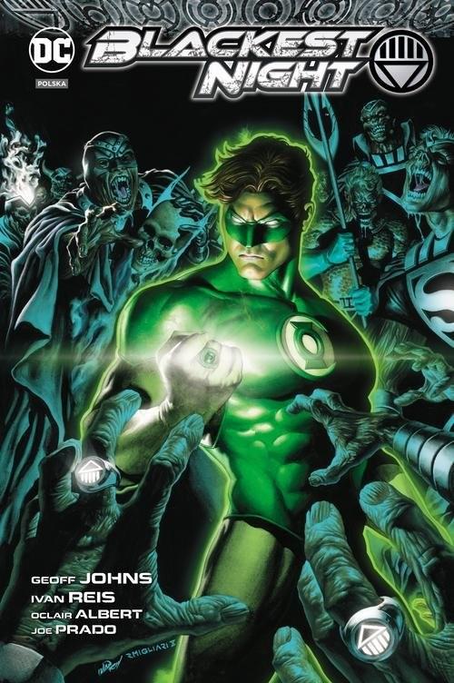 okładka Green Lantern Najczarniejsza noc, Książka | Geoff Johns