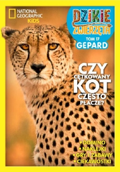 okładka Dzikie Zwierzęta część 17 Gepard, Książka  