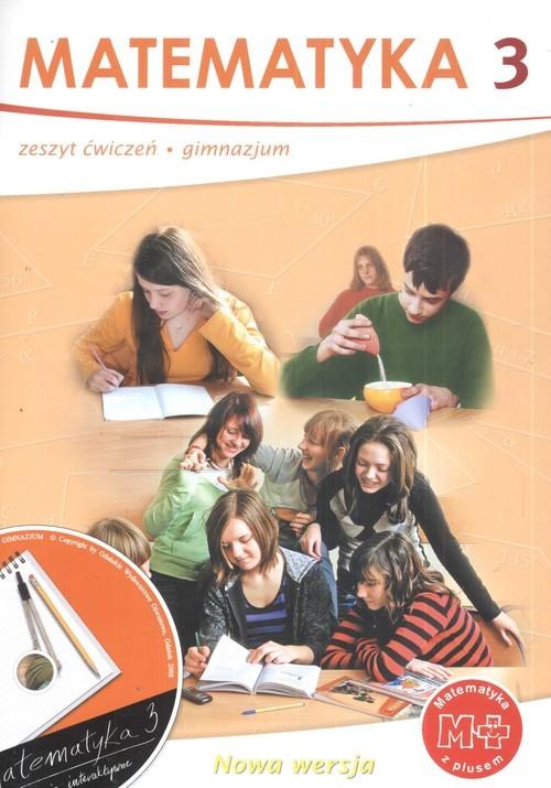 okładka Matematyka z plusem 3 Zeszyt ćwiczeń  + CD Gimnazjum, Książka | Małgorzata Dobrowolska, Marta Jucewicz, Karpi