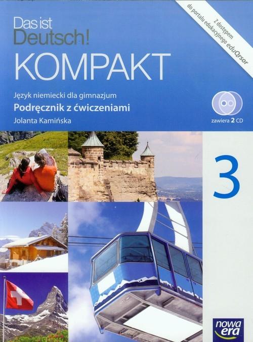 okładka Das ist Deutsch! Kompakt 3 Podręcznik z ćwiczeniami + 2CD Gimnazjum, Książka | Kamińska Jolanta