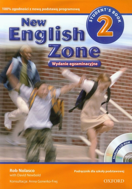 okładka New English Zone 2 Students Book + CD with Exam Practice, Książka   Rob Nolasco, David Newbold