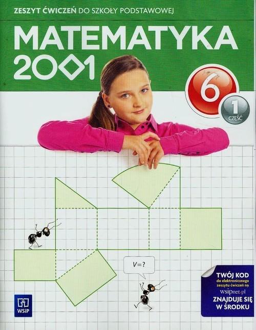 okładka Matematyka 2001 6 Zeszyt ćwiczeń Część 1 Szkoła podstawowa, Książka   Jerzy Chodnicki, Mirosław Dąbrowski, Pfeiffer