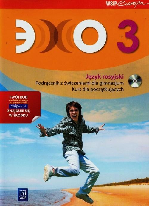 okładka Echo 3 Podręcznik z ćwiczeniami z płytą CD Kurs dla początkujących Gimnazjum, Książka | Gawęcka-Ajchel Beata