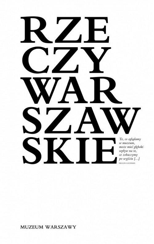 okładka Rzeczy warszawskie, Książka |