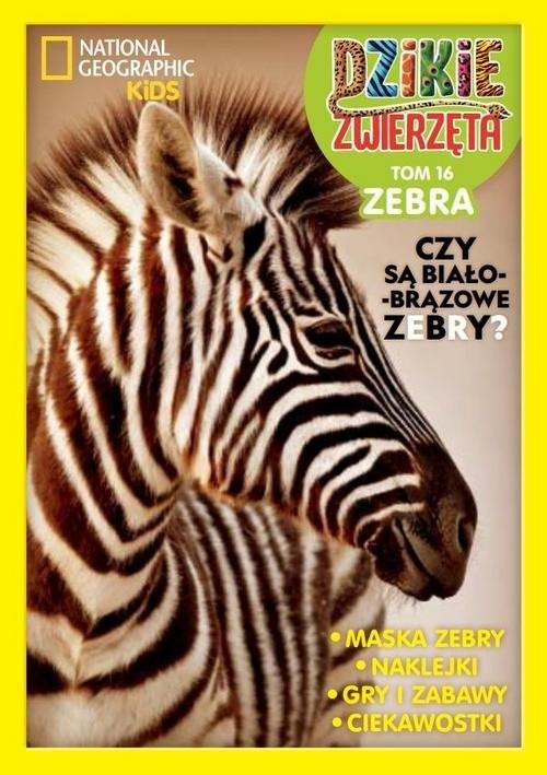 okładka Dzikie Zwierzęta Tom 16 Zebra, Książka  