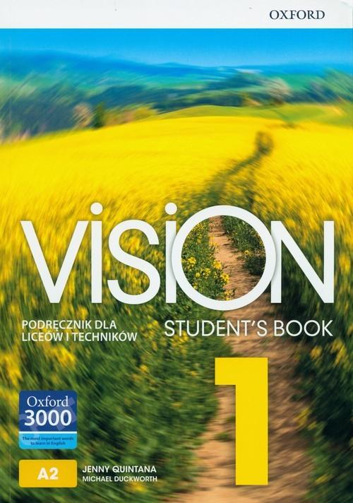 okładka Vision 1 Podręcznik + CD Szkoła ponadpodstawowa i ponadgimnazjalna, Książka | Jenny Quintana, Michael Duckworth