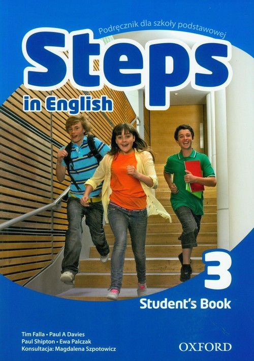 okładka Steps In English 3 Student's Book PL, Książka | Tim Falla, Paul Davies, Paul Shipton, Palczak