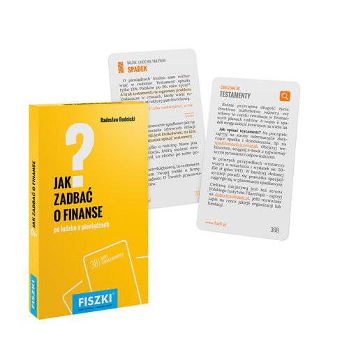 okładka Fiszki Jak zadbać o finanse, Książka | Budnicki Radosław