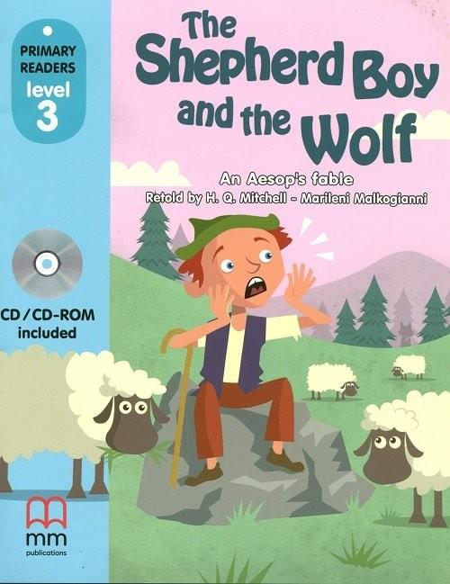 okładka The Shepherd Boy and the Wolf (z CD), Książka | Aesop's fable An