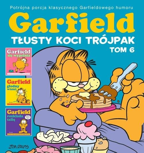 okładka Garfield. Tłusty koci trójpak T.6, Książka | Davis Jim