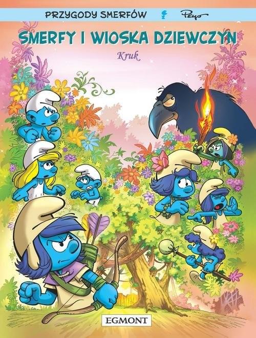 okładka Smerfy i Wioska Dziewczyn T.3 Kruk, Książka | Luc Parthoens, Thierry Culliford