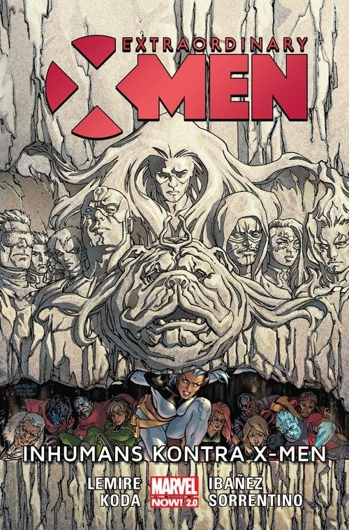 okładka Extraordinary X-Men Inhumans kontra X-Menksiążka      Lemire Jeff