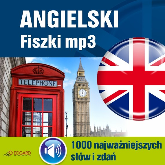 okładka Angielski Fiszki mp3 1000 najważniejszych słów i zdań, Audiobook   autor zbiorowy