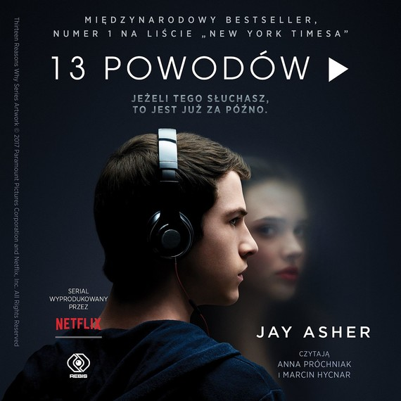 okładka 13 powodów, Audiobook | Jay Asher