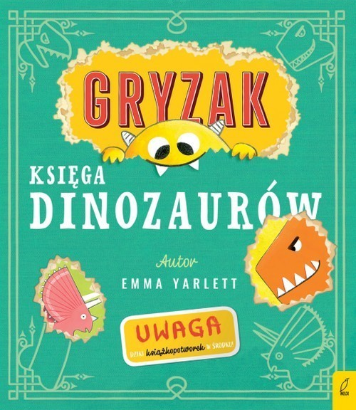 okładka Gryzak Księga dinozaurów, Książka | Yarlett Emma
