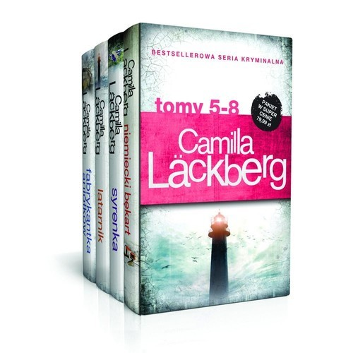 okładka Camilla Lackberg Tom 5-8 Niemiecki bękart / Syrenka / Latarnik / Fabrykantka aniołków Pakietksiążka      Camilla Läckberg