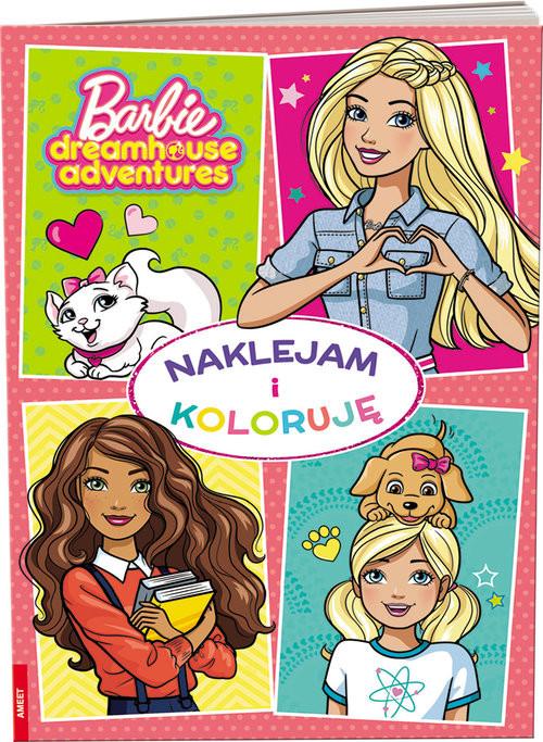 okładka Barbie Naklejam i Koloruję, Książka |