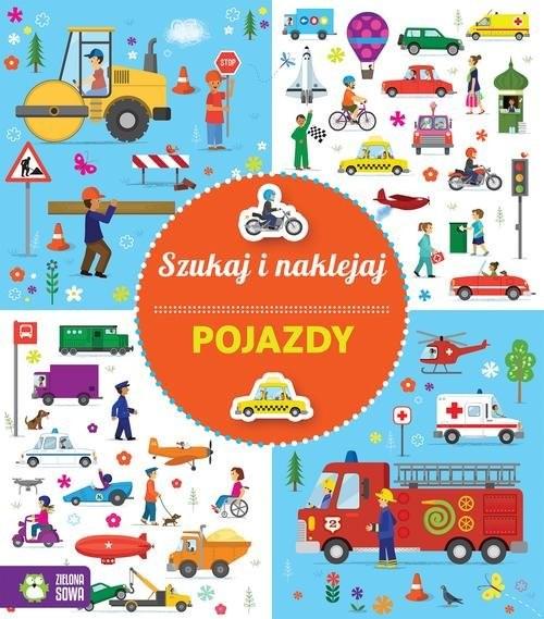 okładka Szukaj i naklejaj Pojazdy, Książka | Praca Zbiorowa