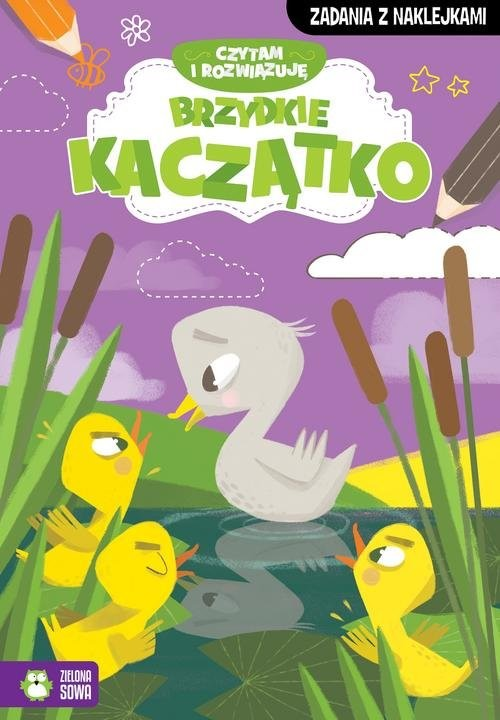 okładka Czytam i rozwiązuję Brzydkie kaczątko, Książka | Praca Zbiorowa