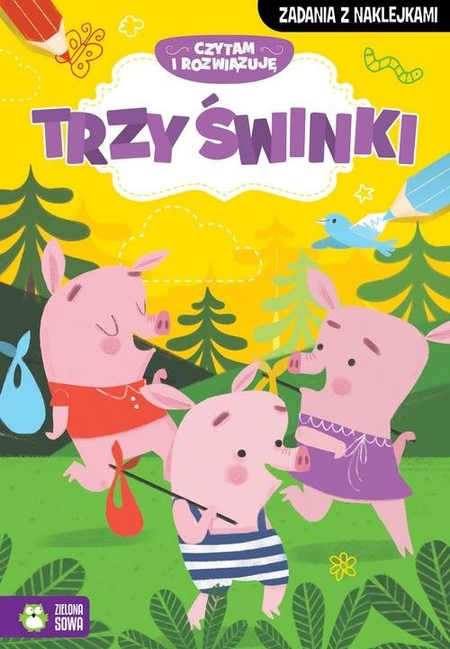 okładka Czytam i rozwiązuję Trzy małe świnki, Książka | Praca Zbiorowa