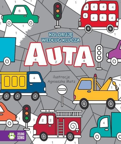 okładka Koloruję według klucza Auta, Książka | Praca Zbiorowa