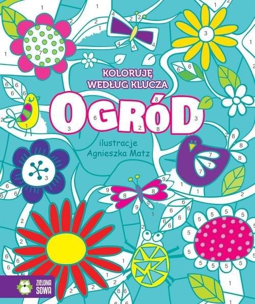 okładka Koloruję według klucza Ogród, Książka | Praca Zbiorowa