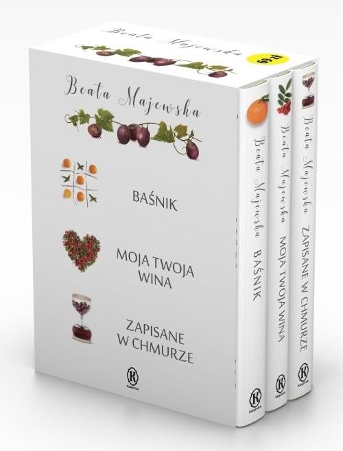 okładka Pakiet Seria owocowa Baśnik  Moja twoja wina  Zapisane w chmurze, Książka | Beata Majewska