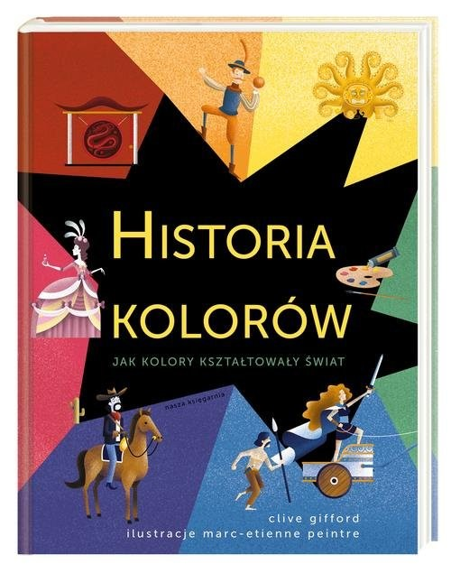 okładka Historia kolorów, Książka   Clive Gifford