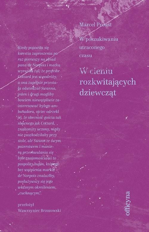 okładka W cieniu rozkwitających dziewcząt, Książka | Marcel Proust