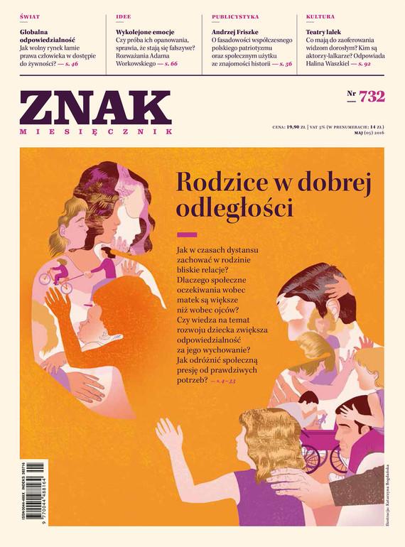 okładka Miesięcznik ZNAK nr 732 (5/2016): Rodzice w dobrej odległościebook   epub, mobi   autor zbiorowy