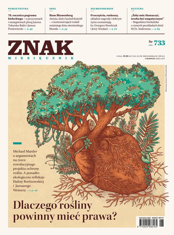 okładka Miesięcznik ZNAK nr 733: Dlaczego rośliny powinny mieć prawa?ebook | epub, mobi | autor zbiorowy