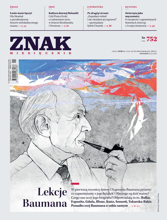okładka Miesięcznik ZNAK nr 752: Lekcje Baumanaebook | epub, mobi | autor zbiorowy