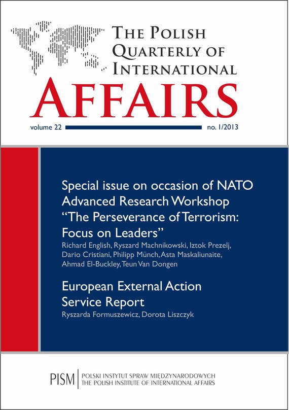 okładka The Polish Quarterly of International Affairs 1/2013, Ebook | Praca Zbiorowa