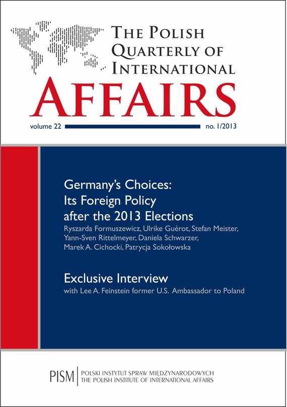 okładka The Polish Quarterly of International Affairs 2/2013, Ebook | Praca Zbiorowa