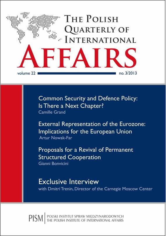 okładka The Polish Quarterly of International Affairs 3/2013, Ebook | Praca Zbiorowa