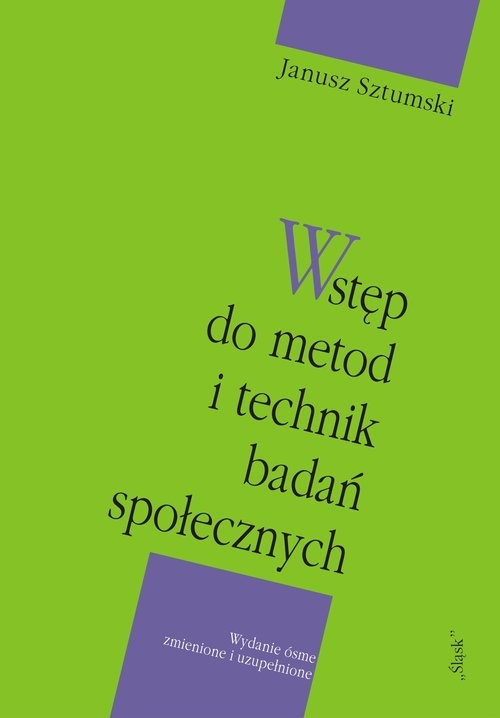 okładka Wstęp do metod i technik badań społecznych, Książka | Sztumski Janusz