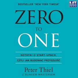 okładka Zero to One, Audiobook | Peter Thiel